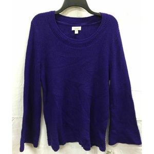 Style&Co Large Midnight Iris LSweater 4AB16
